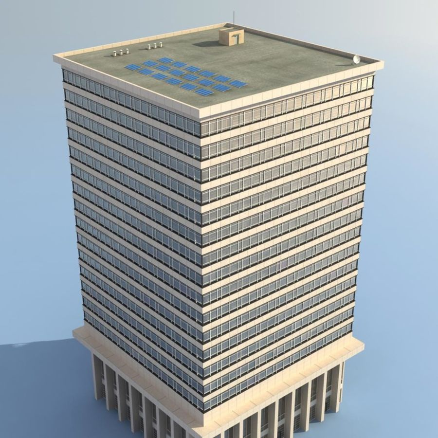 Office Building(1) royalty-free 3d model - Preview no. 5