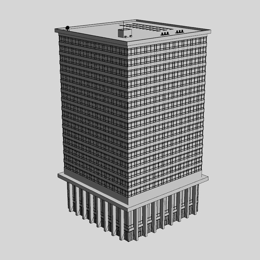 Office Building(1) royalty-free 3d model - Preview no. 7