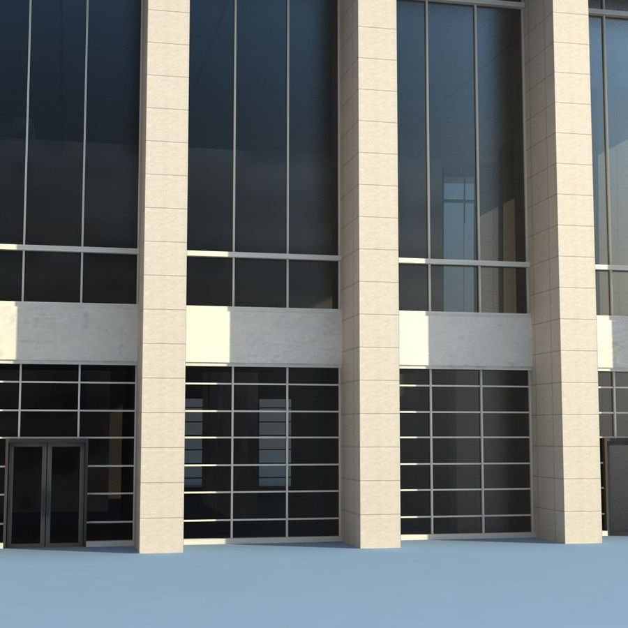 Office Building(1) royalty-free 3d model - Preview no. 4