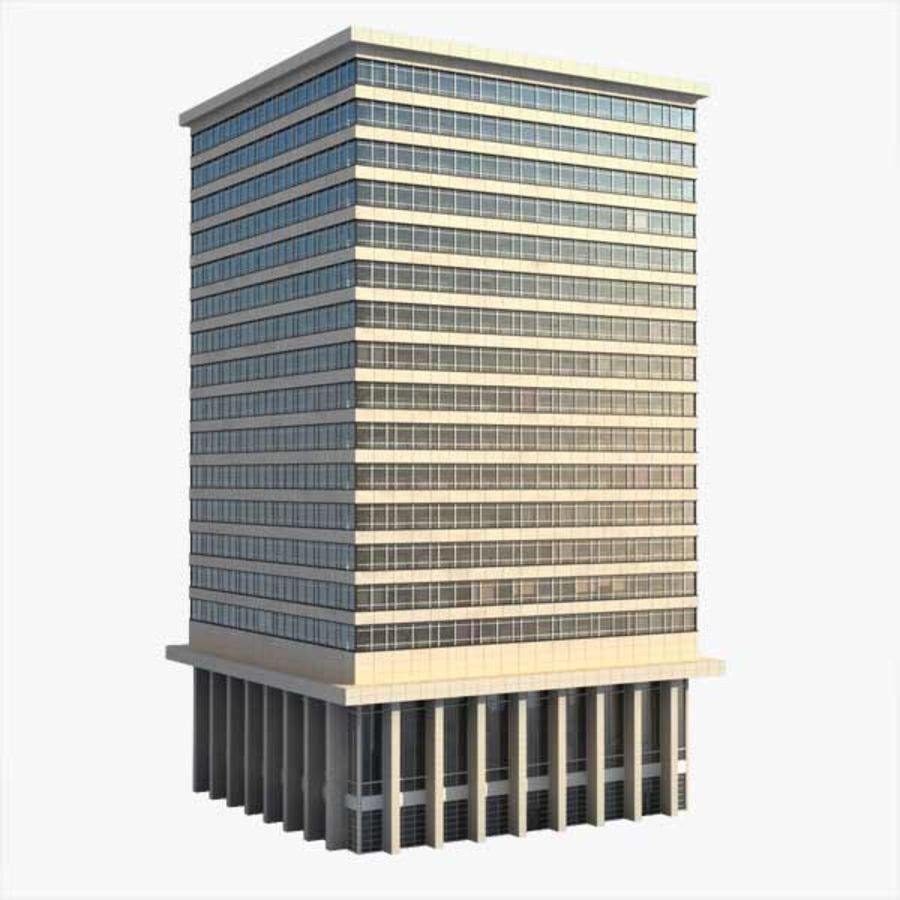Office Building(1) royalty-free 3d model - Preview no. 1