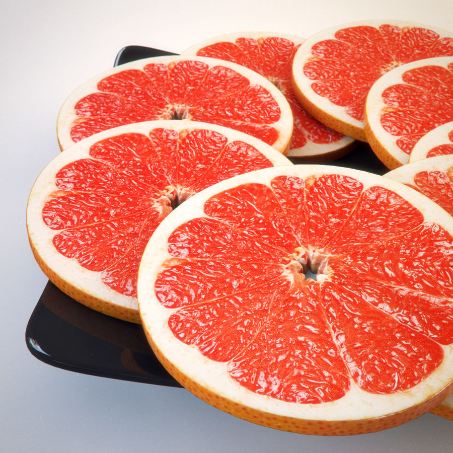 Pomelo Naranja De Pomelo royalty-free modelo 3d - Preview no. 3