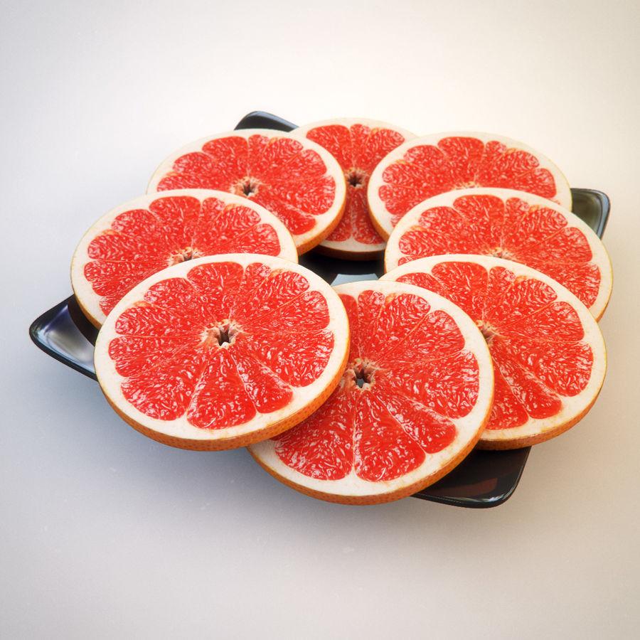Pomelo Naranja De Pomelo royalty-free modelo 3d - Preview no. 2