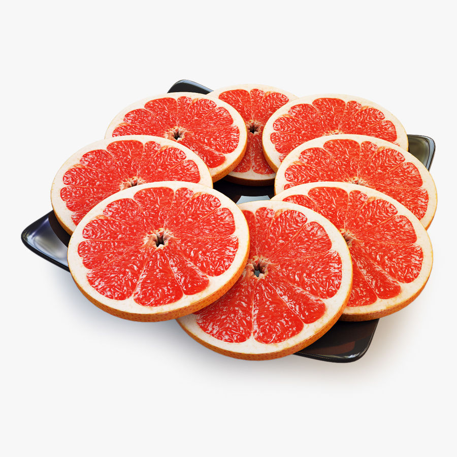 Pomelo Naranja De Pomelo royalty-free modelo 3d - Preview no. 1