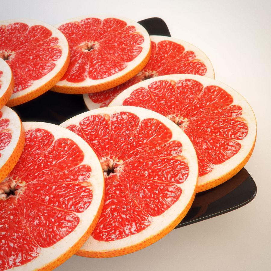 Pomelo Naranja De Pomelo royalty-free modelo 3d - Preview no. 4