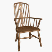 Oak Windsor Armchair 3d model
