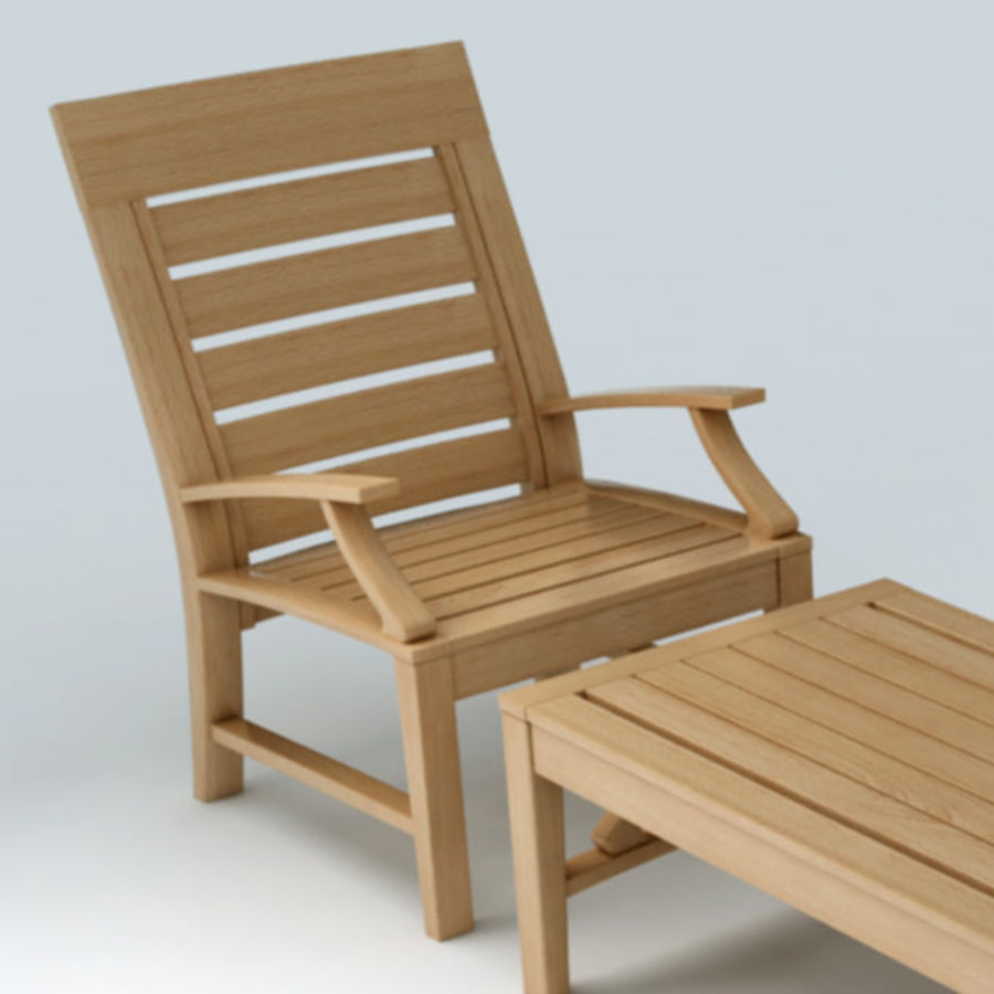 Patio Furniture Set 3 royalty-free 3d model - Preview no. 2