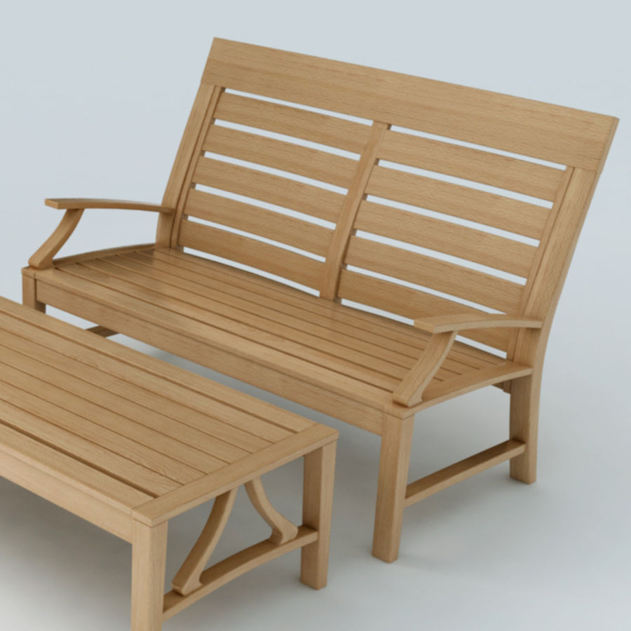 Patio Furniture Set 3 royalty-free 3d model - Preview no. 3