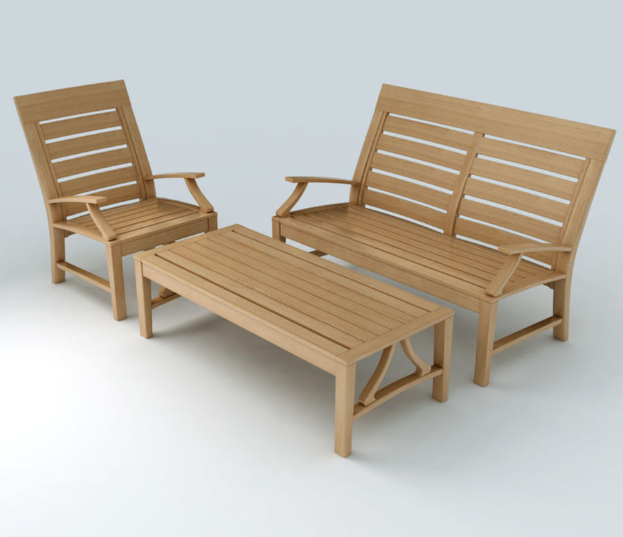 Patio Furniture Set 3 royalty-free 3d model - Preview no. 1