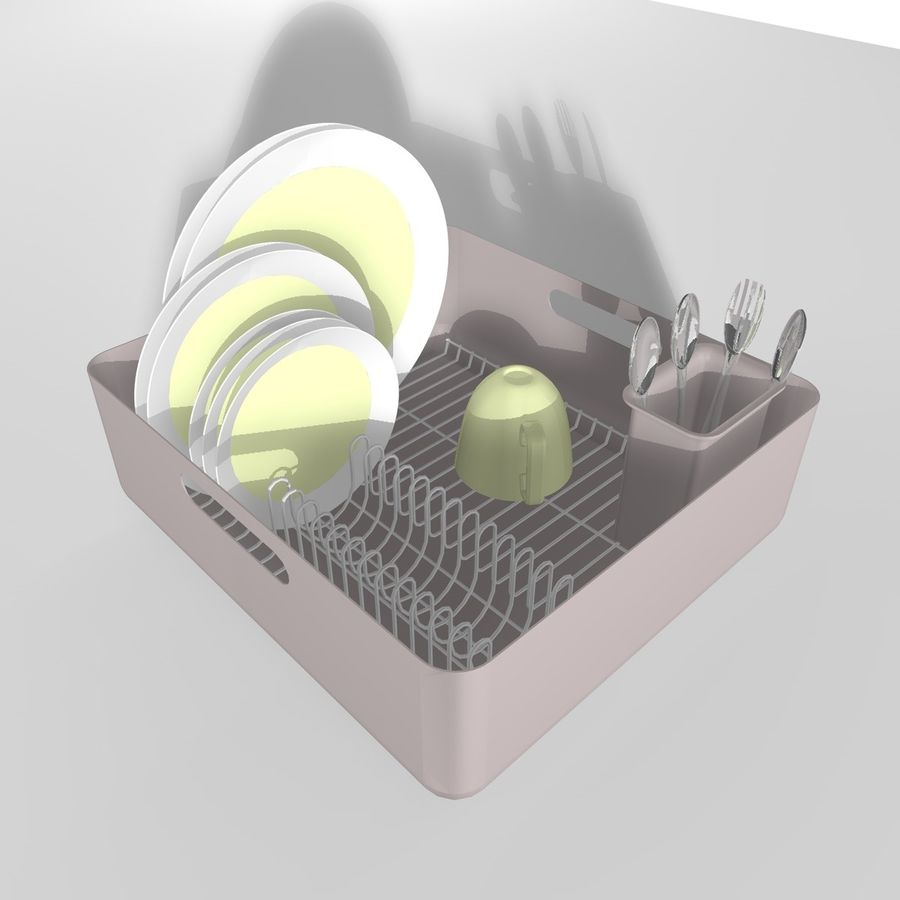 DISHES 2 royalty-free 3d model - Preview no. 3