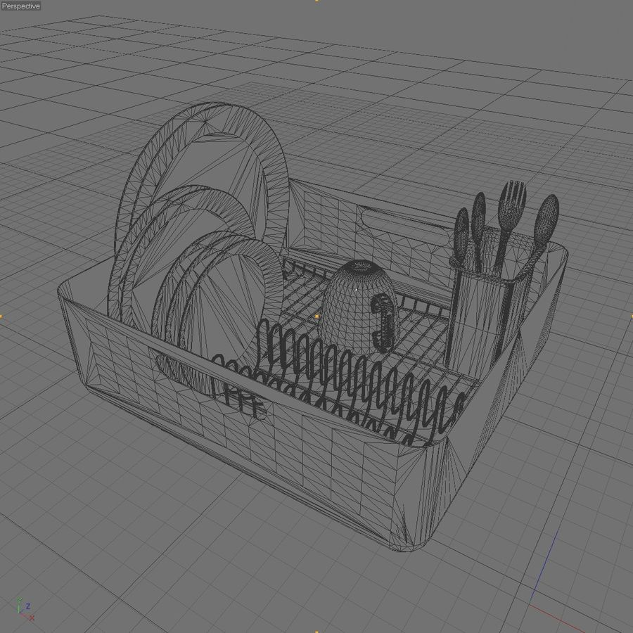 DISHES 2 royalty-free 3d model - Preview no. 5