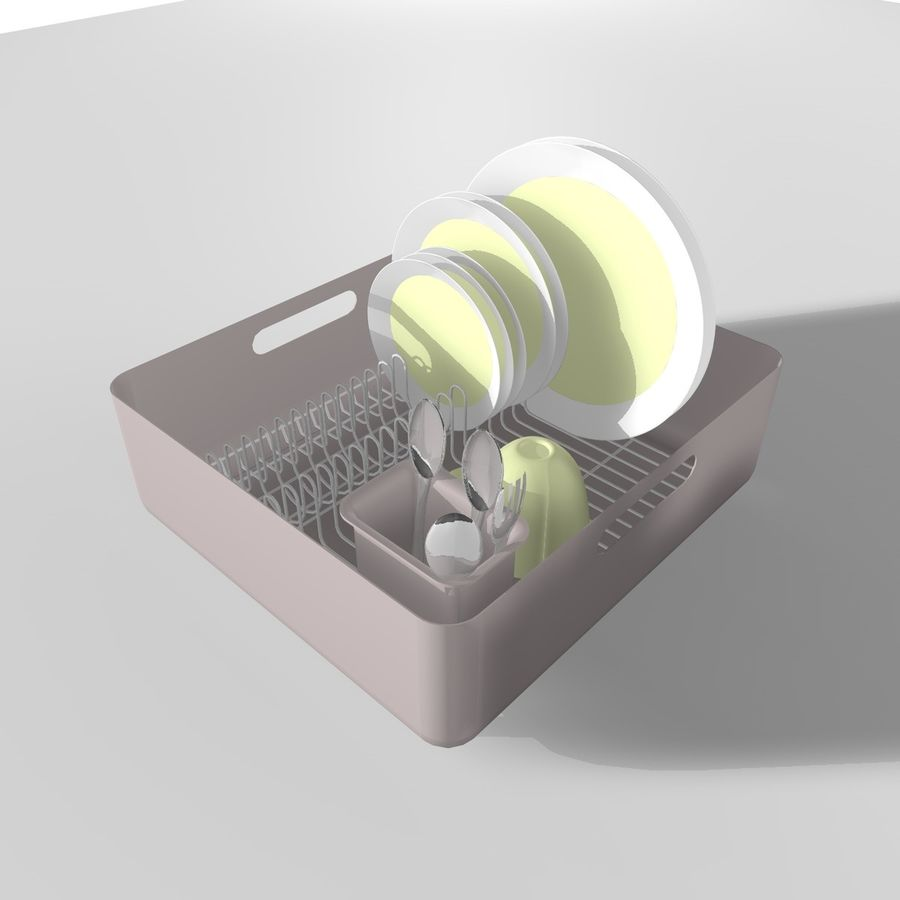 DISHES 2 royalty-free 3d model - Preview no. 1