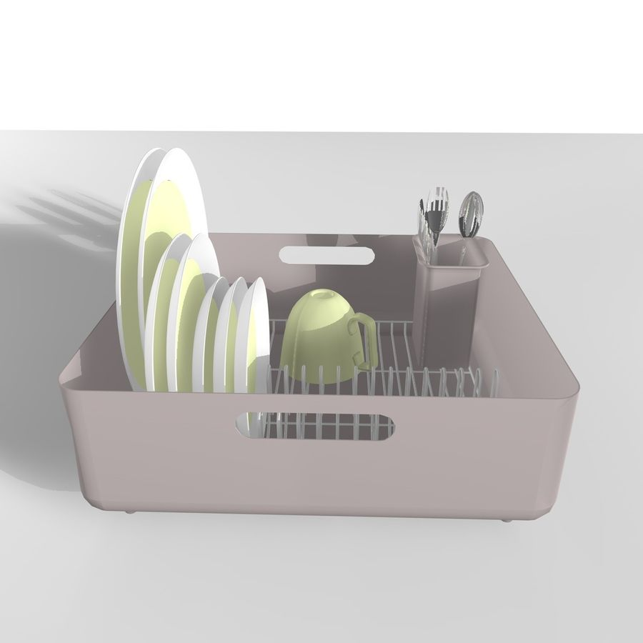 DISHES 2 royalty-free 3d model - Preview no. 4