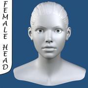 Realistisk kvinnlig huvud 3d modell 3d model
