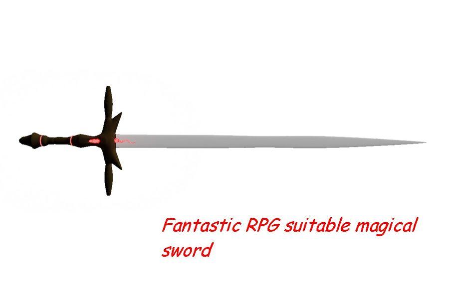 Fantasy Schwert royalty-free 3d model - Preview no. 1