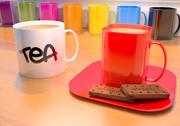 Elementi essenziali per tè e caffè con biscotti Bourbon 3d model