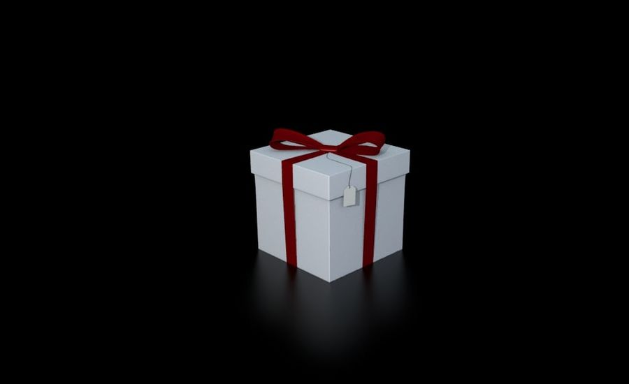ギフト用の箱 royalty-free 3d model - Preview no. 5