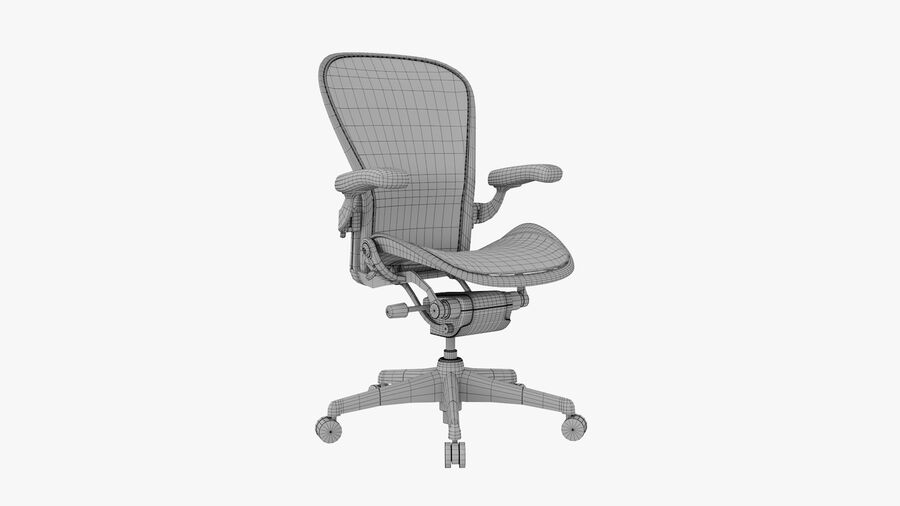 Chaise de bureau Aeron Chair royalty-free 3d model - Preview no. 11