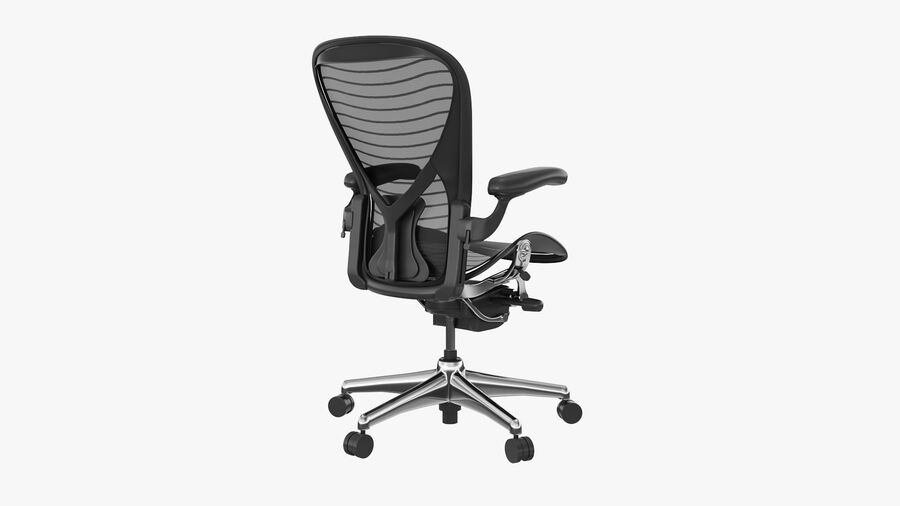 Chaise de bureau Aeron Chair royalty-free 3d model - Preview no. 5
