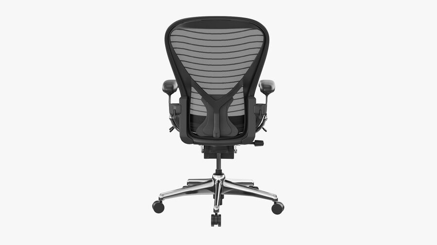 Chaise de bureau Aeron Chair royalty-free 3d model - Preview no. 6