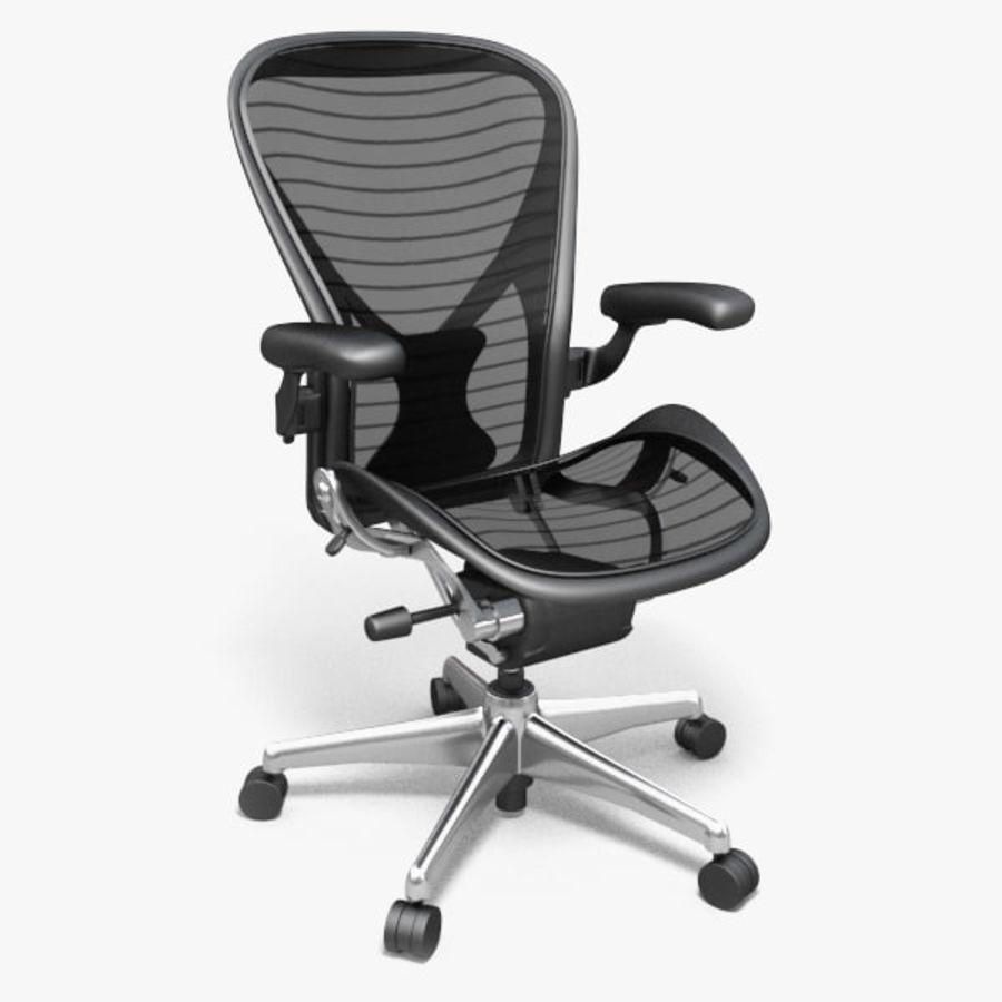 Chaise de bureau Aeron Chair royalty-free 3d model - Preview no. 1