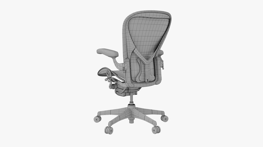 Chaise de bureau Aeron Chair royalty-free 3d model - Preview no. 12