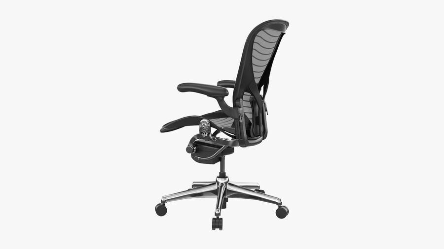 Chaise de bureau Aeron Chair royalty-free 3d model - Preview no. 8