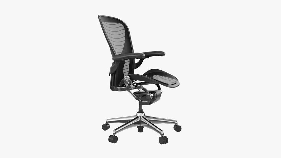 Chaise de bureau Aeron Chair royalty-free 3d model - Preview no. 3