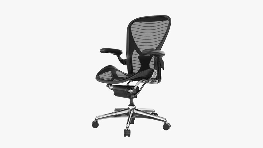 Chaise de bureau Aeron Chair royalty-free 3d model - Preview no. 10
