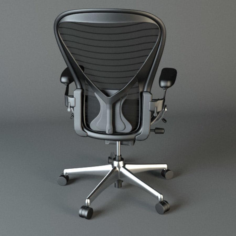 Chaise de bureau Aeron Chair royalty-free 3d model - Preview no. 7