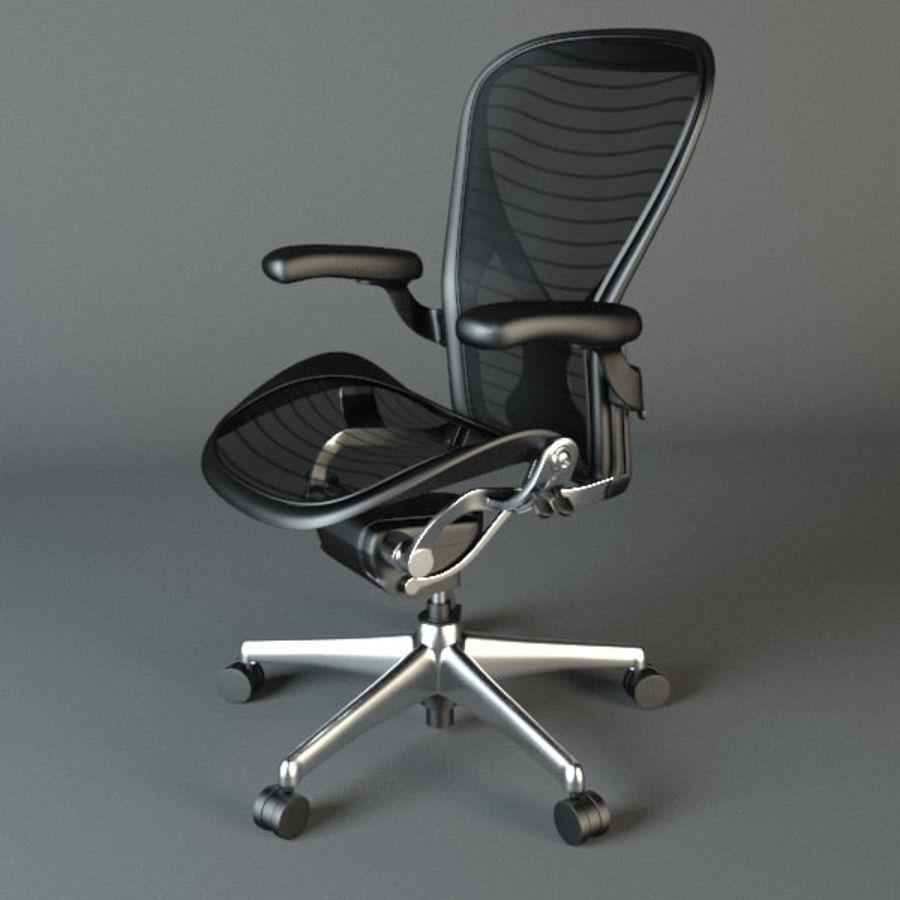 Chaise de bureau Aeron Chair royalty-free 3d model - Preview no. 4