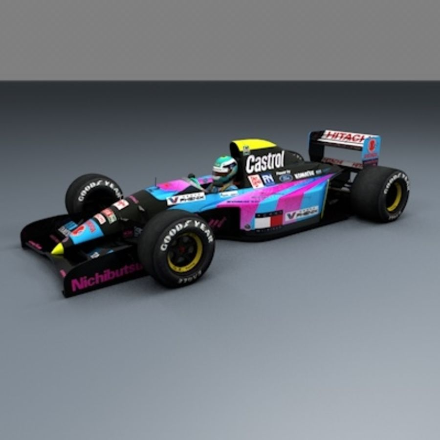 F1 1992 royalty-free 3d model - Preview no. 5