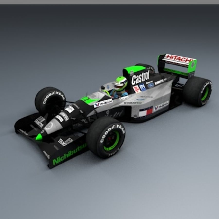 F1 1992 royalty-free 3d model - Preview no. 9