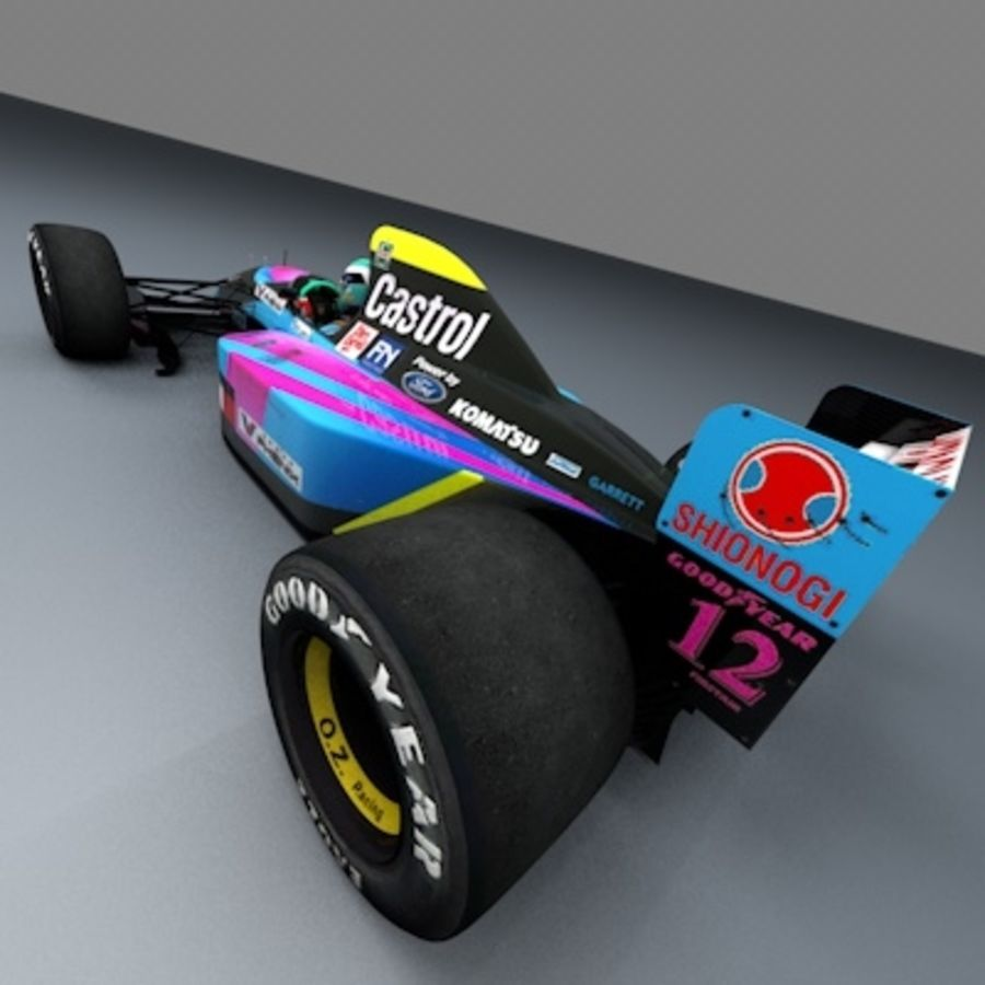 F1 1992 royalty-free 3d model - Preview no. 7