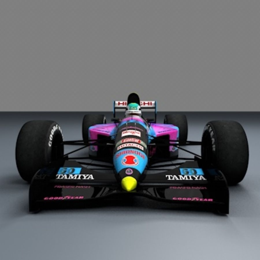 F1 1992 royalty-free 3d model - Preview no. 6