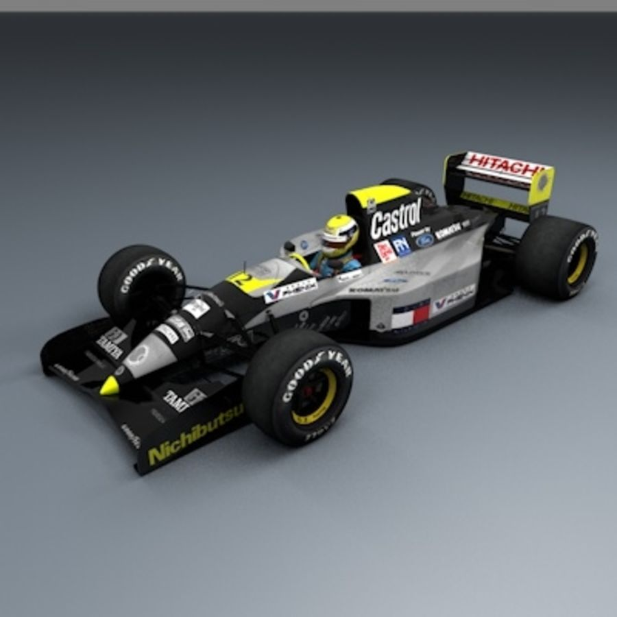 F1 1992 royalty-free 3d model - Preview no. 1