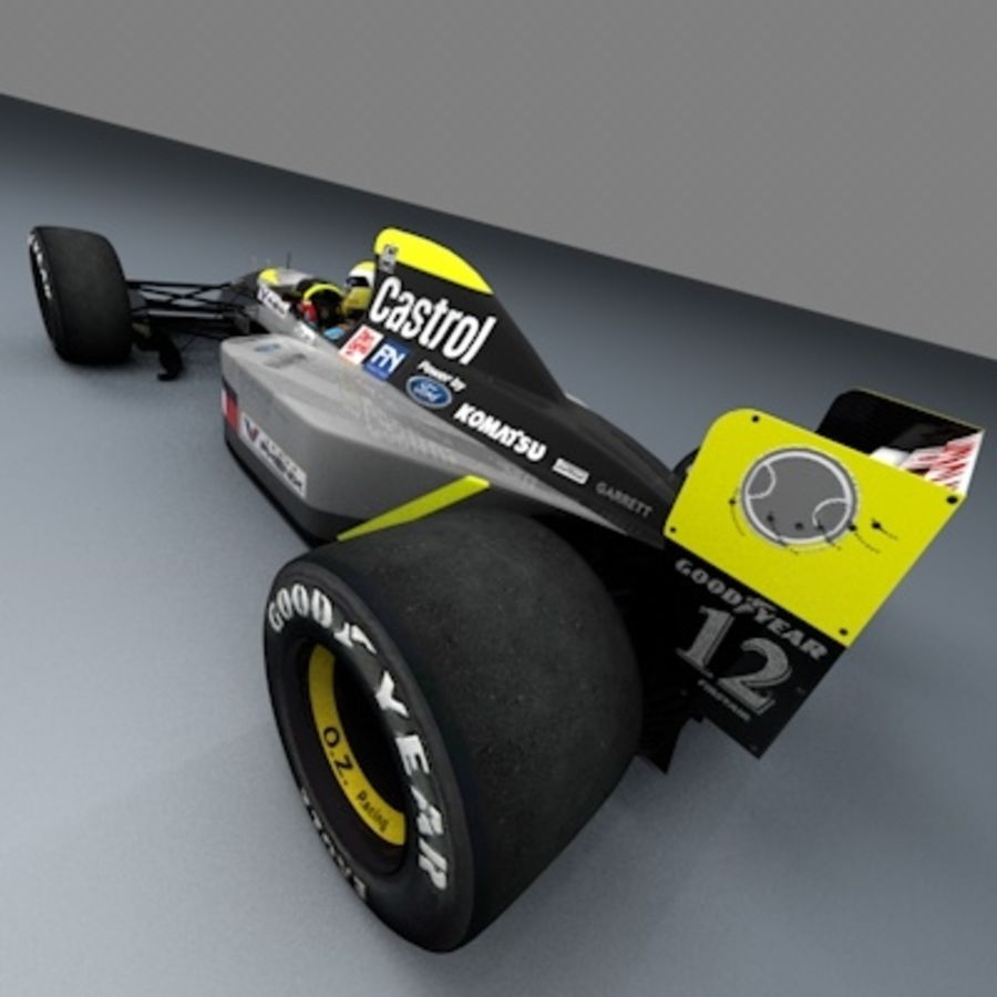 F1 1992 royalty-free 3d model - Preview no. 3