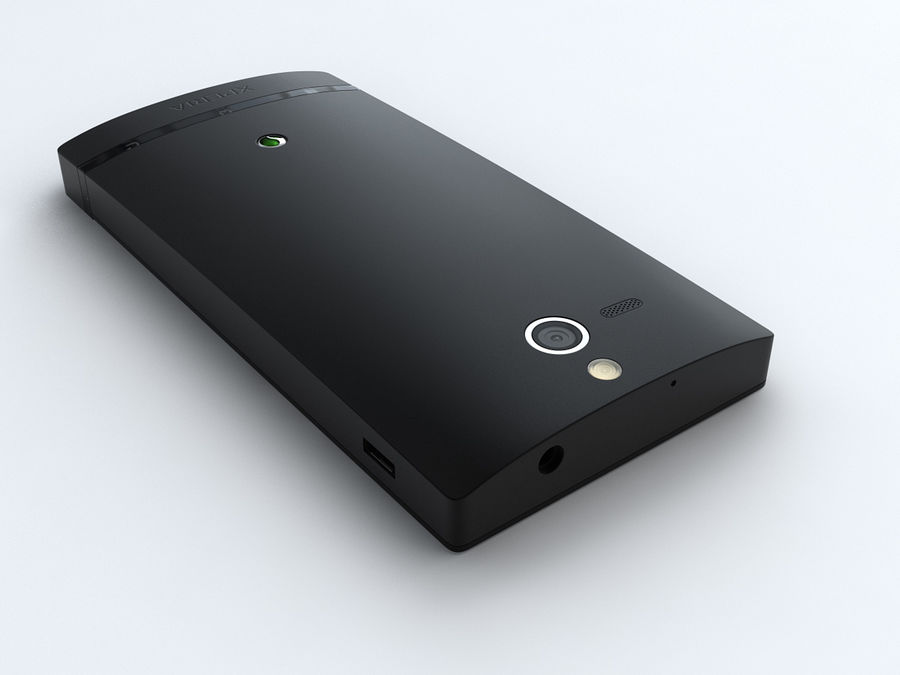 Sony Xperia U royalty-free 3d model - Preview no. 11