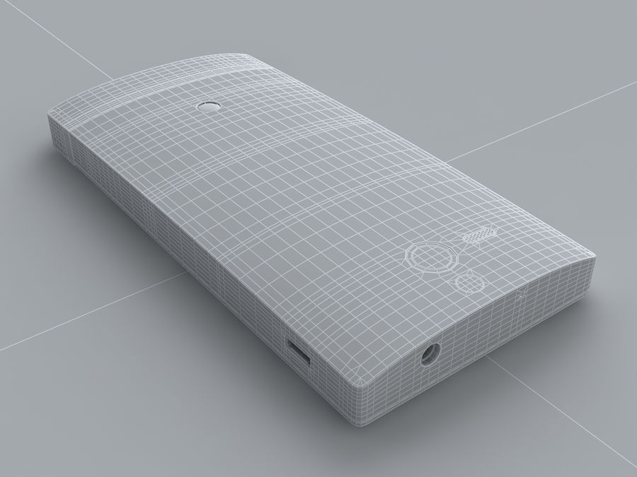 Sony Xperia U royalty-free 3d model - Preview no. 28