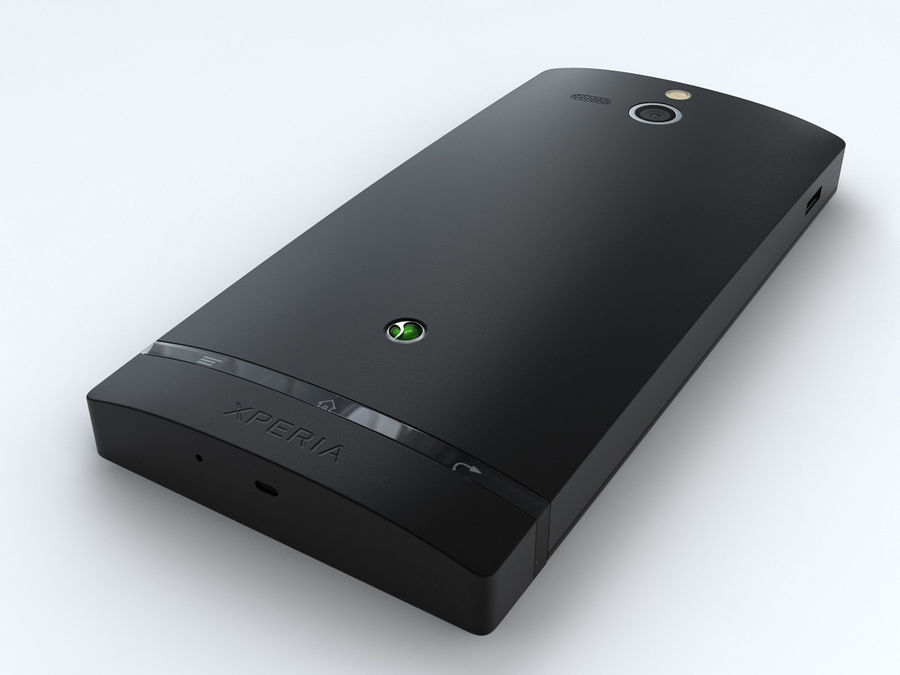Sony Xperia U royalty-free 3d model - Preview no. 12