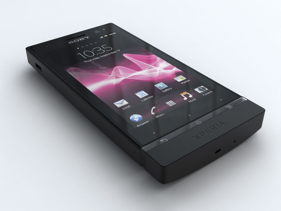 Sony Xperia U royalty-free 3d model - Preview no. 1