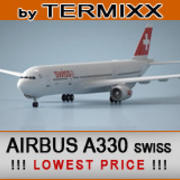 Airbus A330 SWISS 3d model