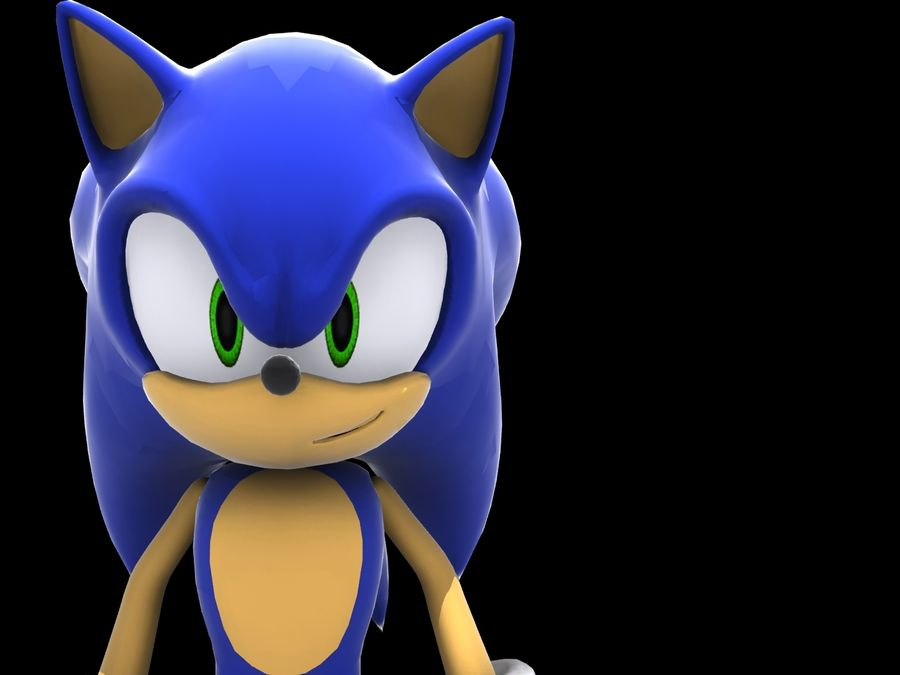 Sonic Complete Rig royalty-free 3d model - Preview no. 5