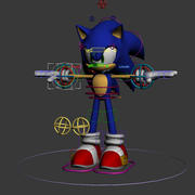 Sonic Complete Rig 3d model