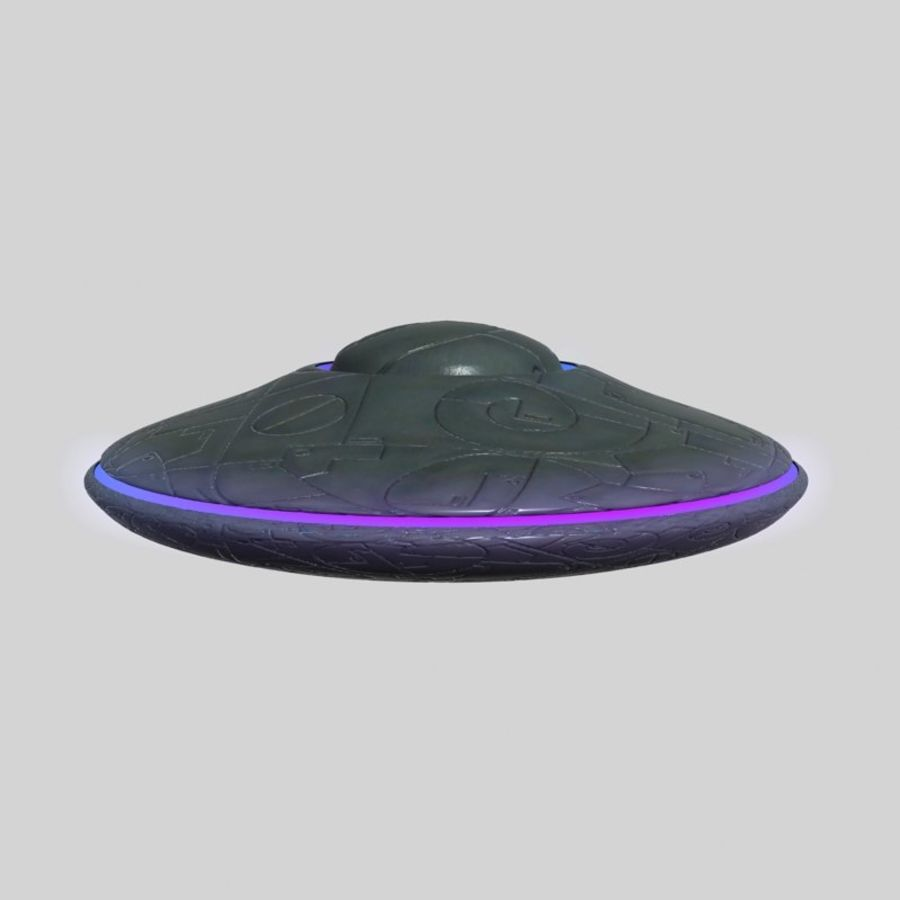 UFO alien spaceship royalty-free 3d model - Preview no. 4