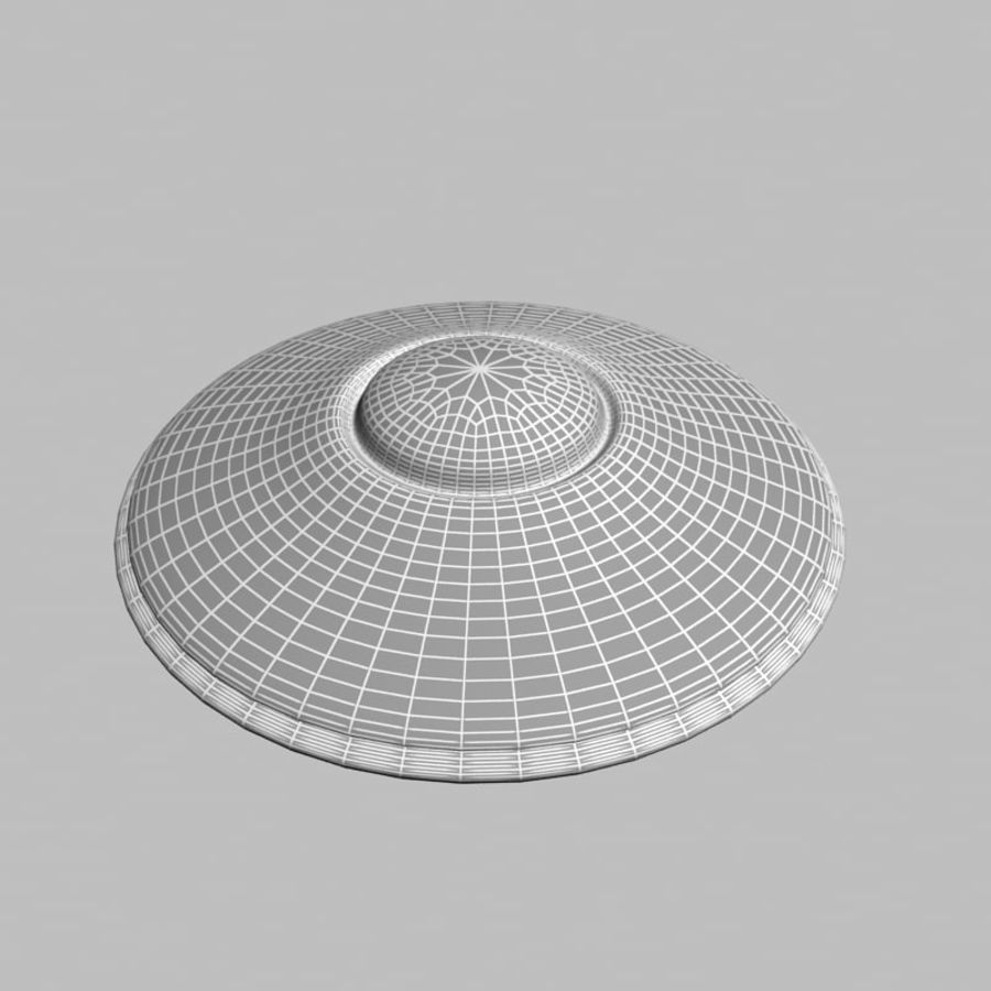 UFO alien spaceship royalty-free 3d model - Preview no. 16