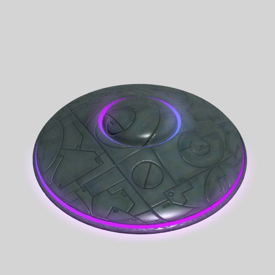 UFO alien spaceship royalty-free 3d model - Preview no. 9