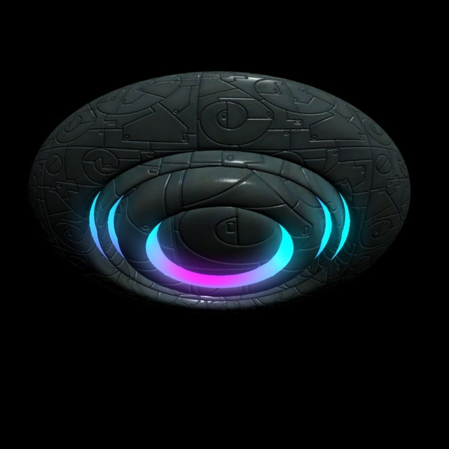 UFO alien spaceship royalty-free 3d model - Preview no. 12