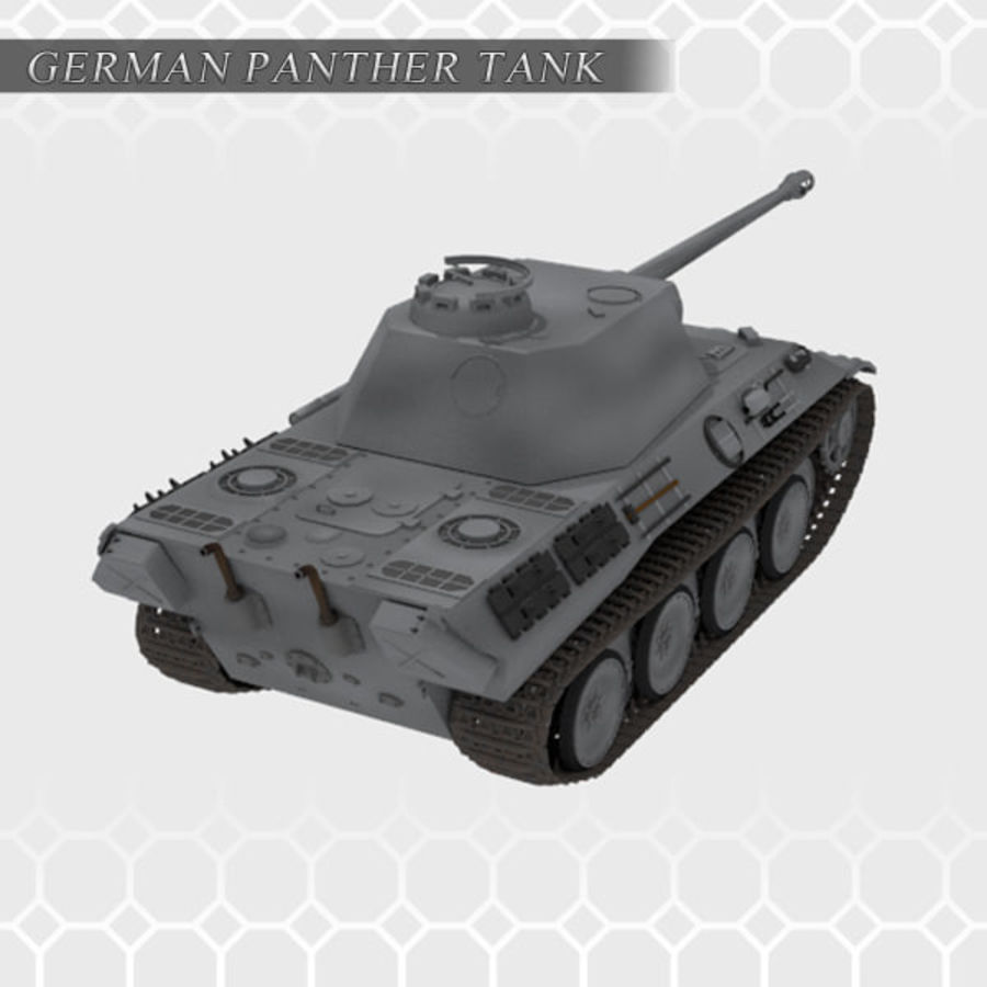 Panther Tank - Panzer V royalty-free 3d model - Preview no. 3