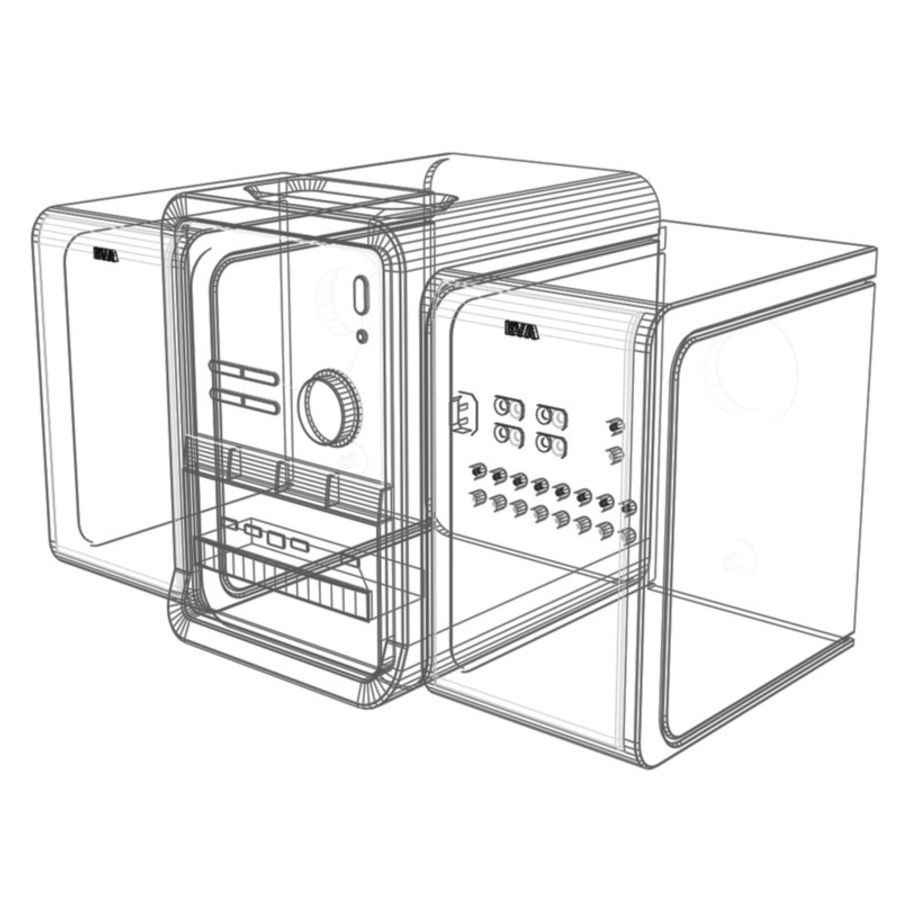 stereo cd    mp3 player 3d model  18 -  obj  fbx  lwo