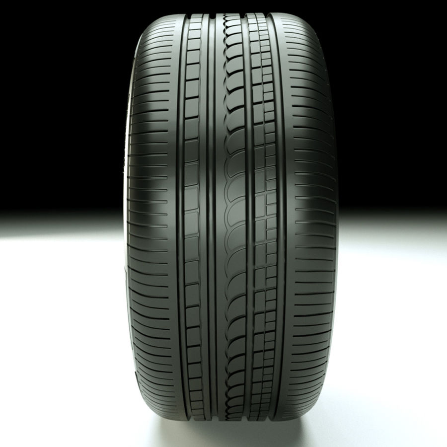 Pirelli Pzero Rosso tire tyre royalty-free 3d model - Preview no. 2